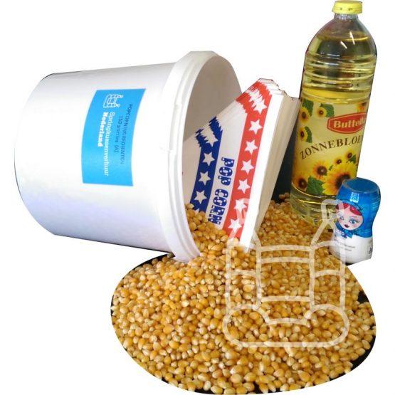 Popcorn-ingrediënten voor 150 porties (koop)