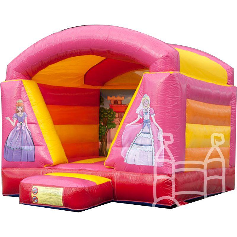 Springkussen Mini Prinses met dak 4x3m huren